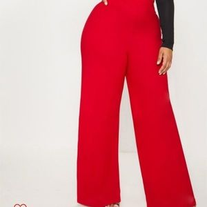 NWT Plus red high waisted trouser